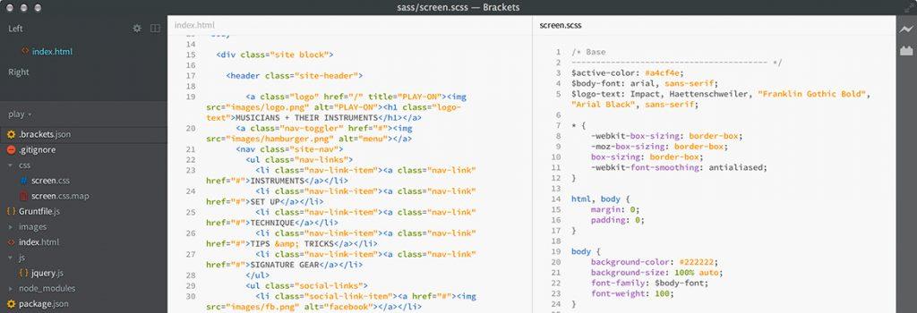 Brackets HTML/CSS editor