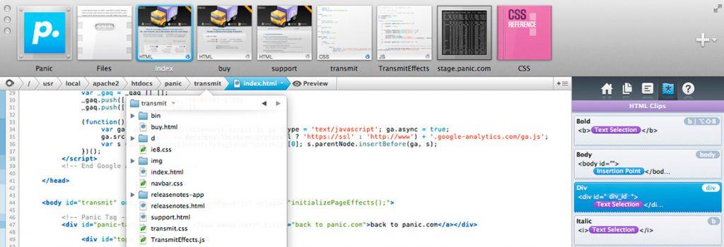 Coda HTML/CSS editor