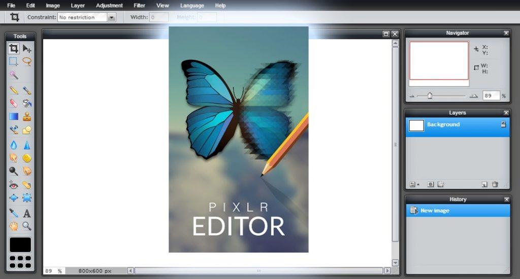 Pixlr Editor - Photoshop alternatief